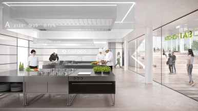 Cirfood District, le cucine