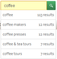 Starbucks On-Site Search Example