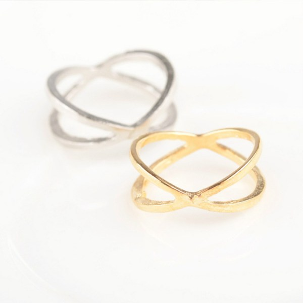 X Shaped Thermal Fashion Ring (Gold or Silver) - Retailite