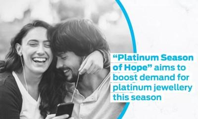"""Platinum Season of Hope"" aims to boost demand for platinum jewellery this season"