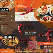 KAB-0917-0003 Krazi Burrito Menu Trifold