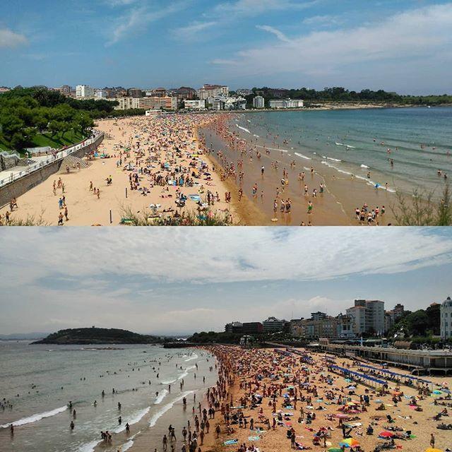 Las playas del Sardinero a Reventar