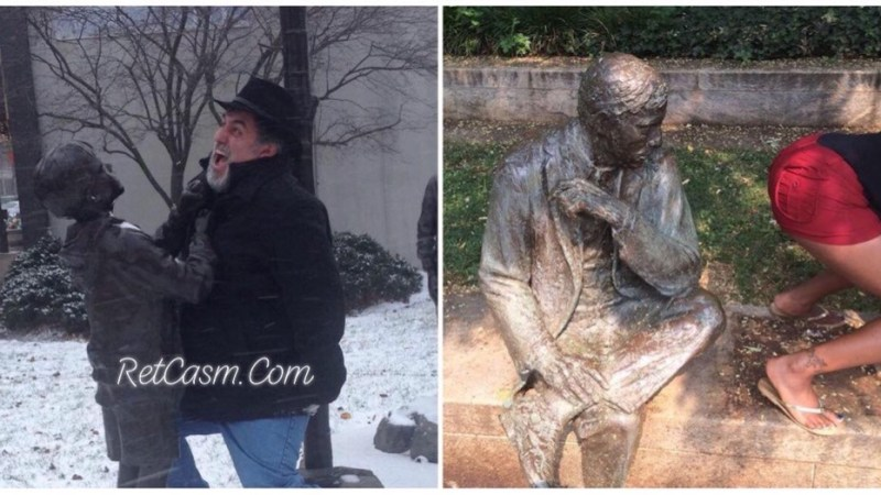 25+ Strange Photographs With Statues