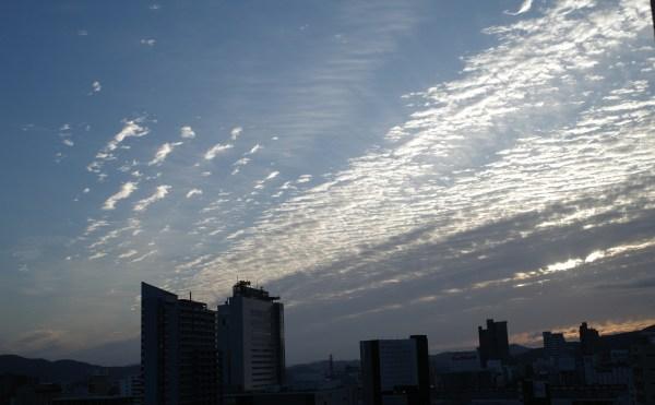 うろこ雲、秋、秋空