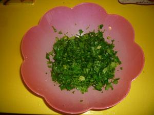 salata tabuli pasul 1