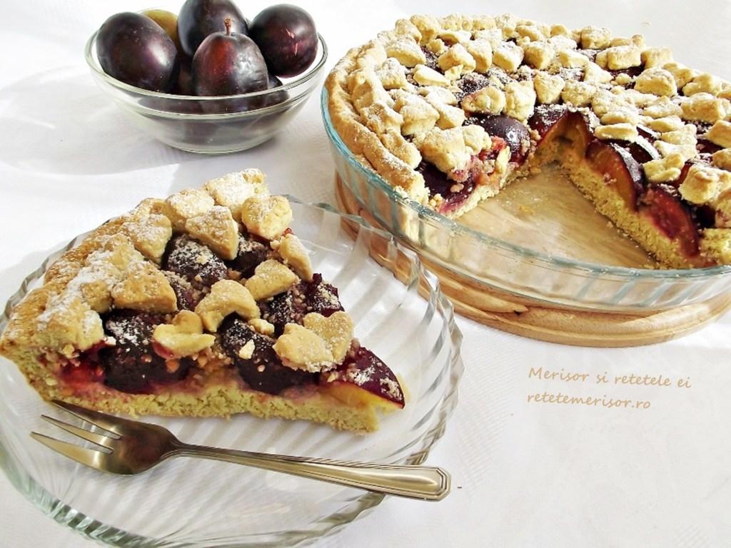 Tarta cu prune si alune de padure