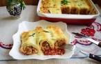 Cannelloni din clătite cu sos roșu și sos bechamel