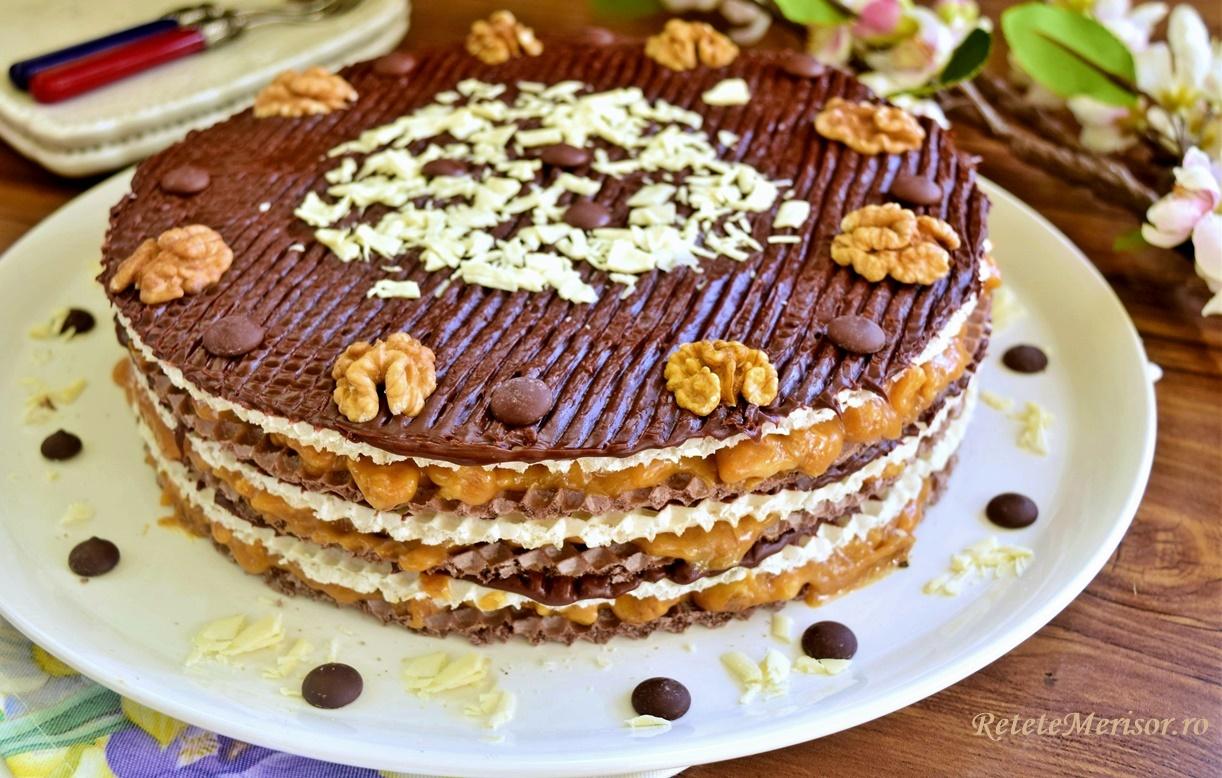 Napolitane duo cu caramel și ciocolată