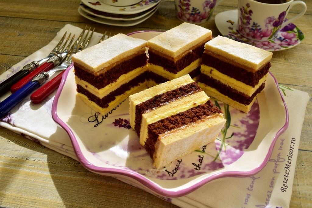 Prăjitura Fantezie în cinci straturi