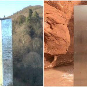 Obiect extraterestru sau ce?! Un monolit ca și cel din America, descoperit acum în România