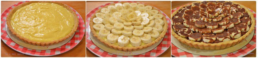 tarta cu crema de vanilie si banane 2