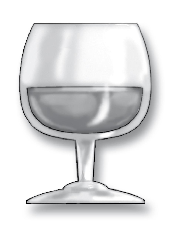 1.5 oz of brandy (a single jigger) - about 40% alcohol