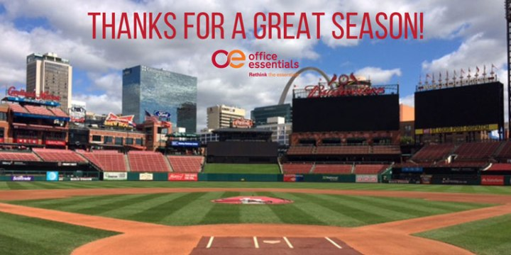 Office Essentials Thanks the St. Louis Cardinals for a great season