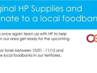 Buy HP Ink or Toner and help Office Essentials feed a hungry family this holiday season.