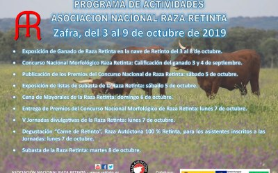 Programa de Actividades Asociacion Nacional Raza Retinta Zafra 2019