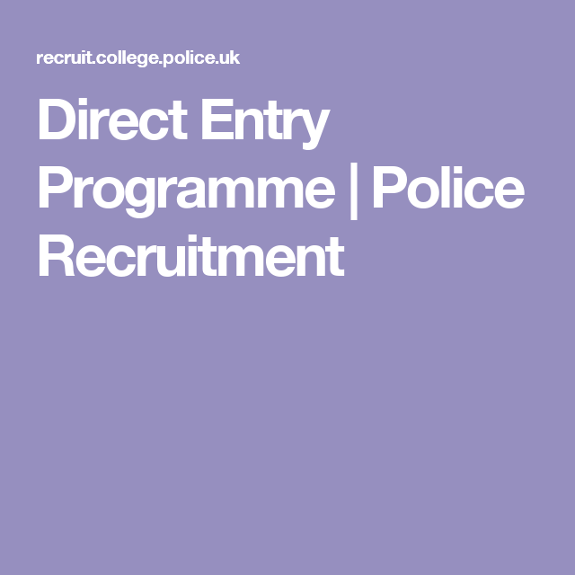 Policing – Experience vs Degrees & Direct Entry