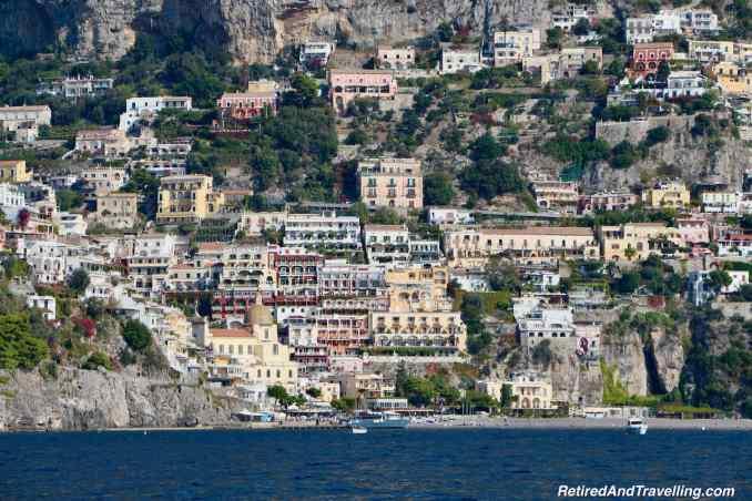 Positano From Water - Amalfi Coast By Boat From Sorrento Italy.jpg