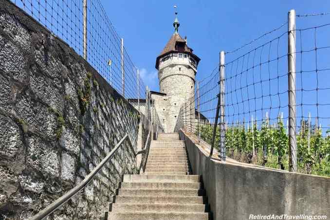 Munot Fortress Castle Stairs - Schaffhausen And The Rhine Falls From Zurich Switzerland.jpg