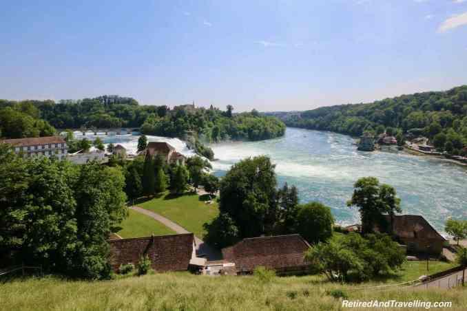 Rhine Falls Above - Schaffhausen And The Rhine Falls From Zurich Switzerland.jpg