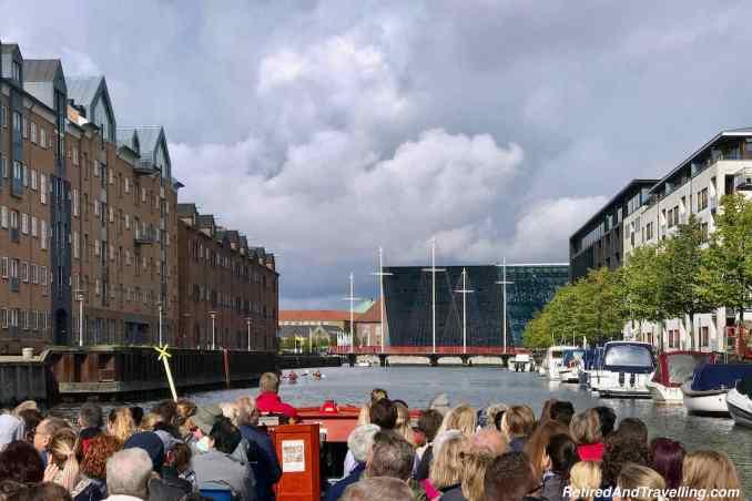 Circle Bridge and Black Diamond Building - Canal Boat Cruise in Copenhagen Denmark.jpg