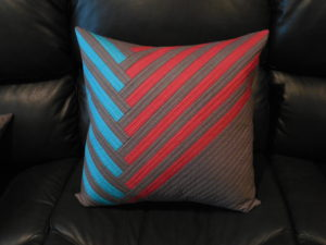 diagonal stripes pillow