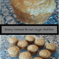 Skinny Oatmeal Brown Sugar Muffins