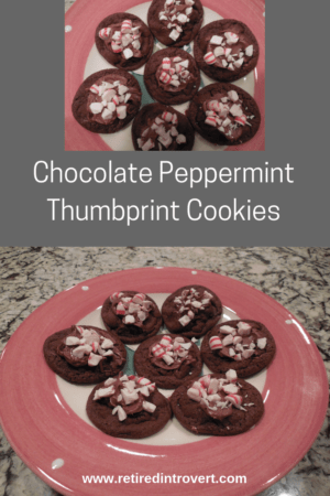 Chocolate Peppermint Thumbprint Cookies Retired Introvert