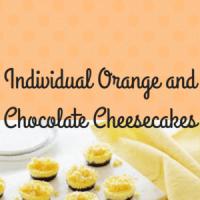 Individual Orange and Chocolate Cheesecakes