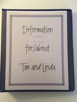 personal information binder