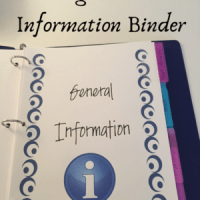 Creating a Personal Information Binder