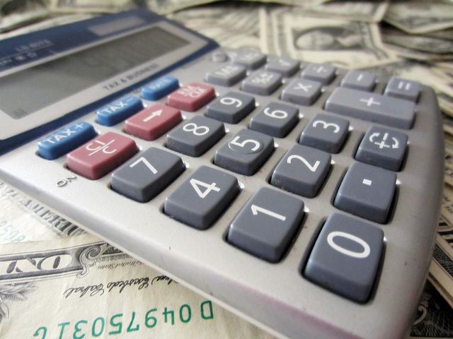 Calculator and money 2