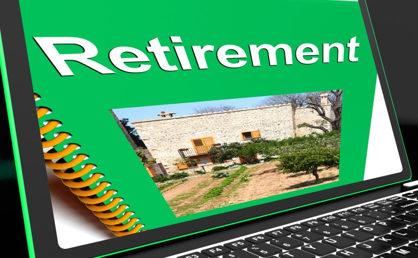 Photo computer with retirement book on screen