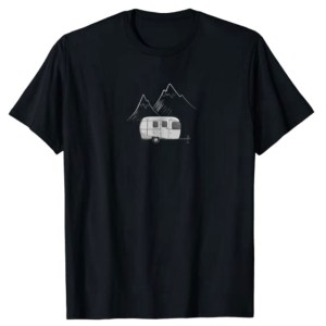 Airstream Camping Trailer & Mountains T-Shirt