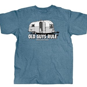 OLD GUYS RULE T Shirt for Men | Wheel Estate | Cool, Funny Graphic Tee for Dad, Husband, Grandfather Gift | Blue