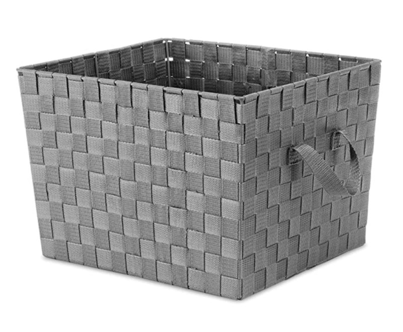 """Whitmor INC 13x15x10 Gry Woven Tote, 13 by 15 by 10"""""""