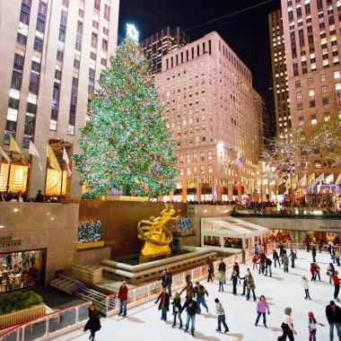 The Christmas Tree at Rockefeller Center, New York City