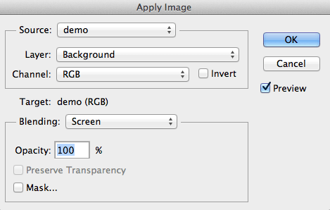 Apply Image - Screen