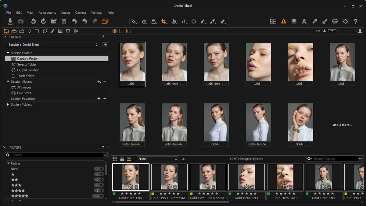 Retouching Academy Alexey Adamitsky Retouching Selection Final Set in Capture One