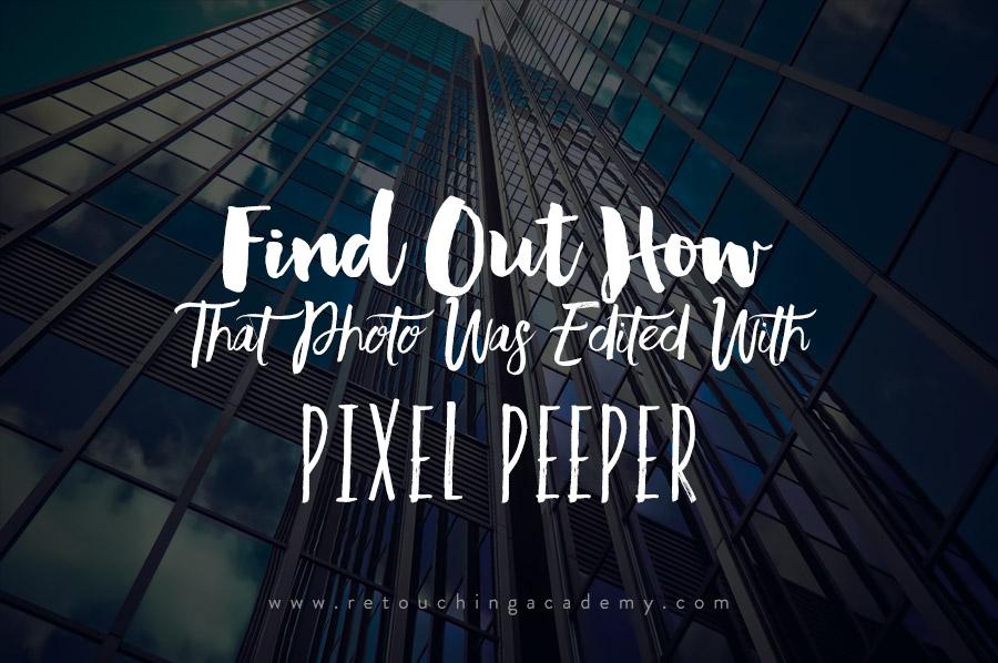 pixel peeper io shows exif data and lightroom adjustments