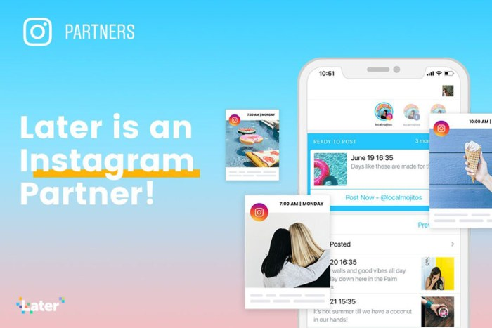 later is an official instagram partner