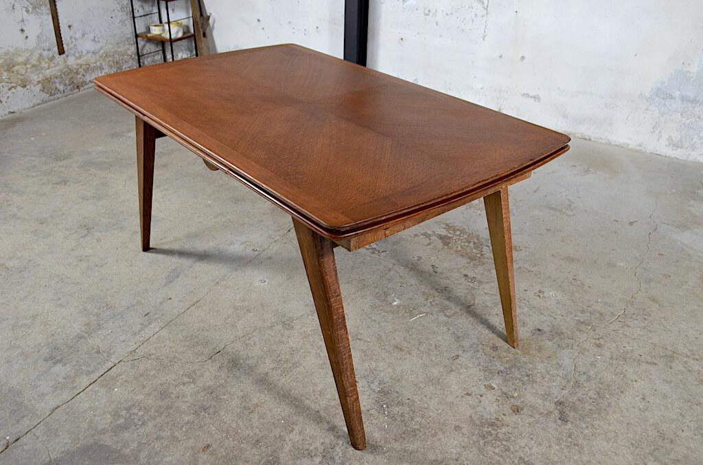 table vintage cecile pieds compas 1950