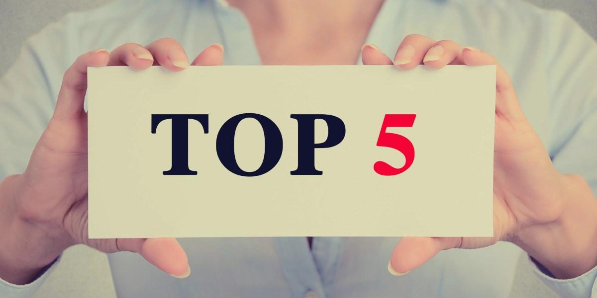 Les 5 articles les plus populaires de 2018