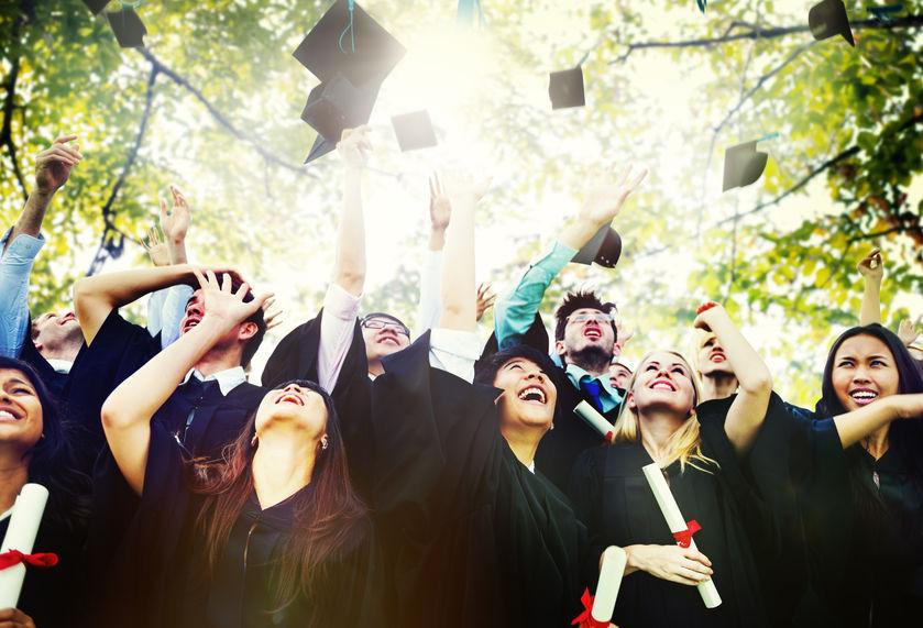 44638708 - diversity students graduation success celebration concept
