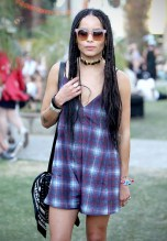 Zoe Kravitz Spotted At Coachella Wearing Marc By Marc Jacobs Sunglasses