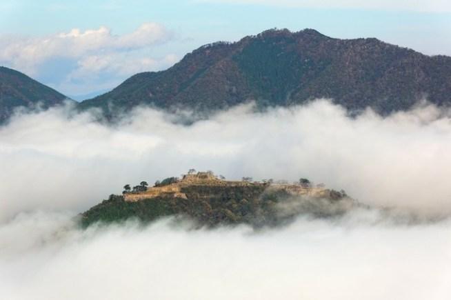 立雲峡から観た竹田城