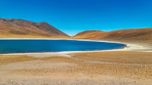 Laguna Miñiques em San Pedro de Atacama, no Deserto de Atacama