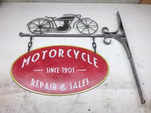 Enseigne Motorcycle vintage