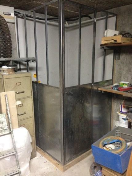 Fabrication verrière d'atelier en métal