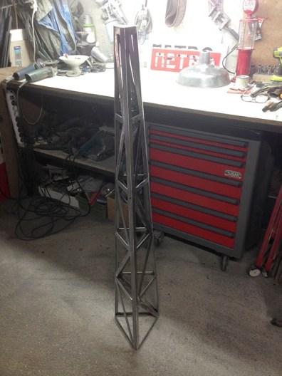 Fabrication lampe industriel sur pied