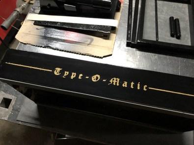 Fabrication presse typographique manuelle artisanale